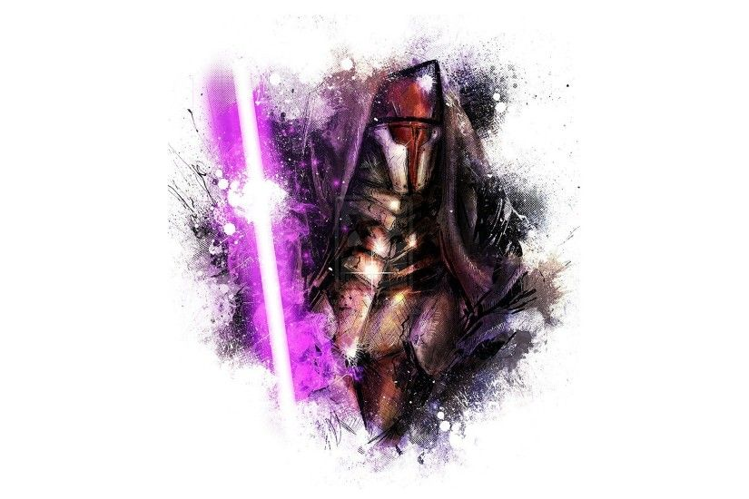 Darth Revan Fan Art George Lucas Lightsabers LucasArts Star Wars Video  Games White Background