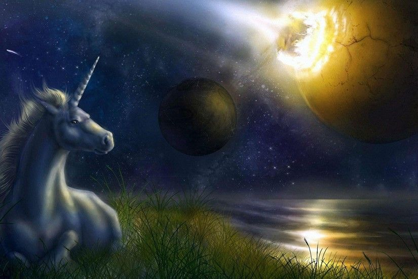 fantasy planet unicorn HD backgrounds - desktop wallpapers