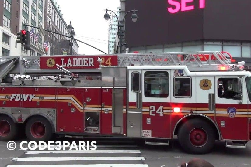FDNY Ladder 24 (taps on the air horn only)