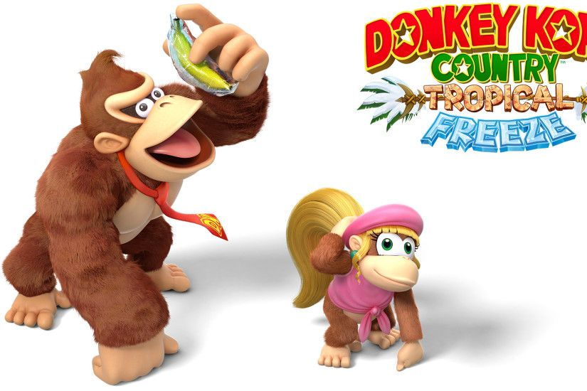 ... DKC:TF - Wallpaper - Donkey and Dixie Kong by Thelimomon