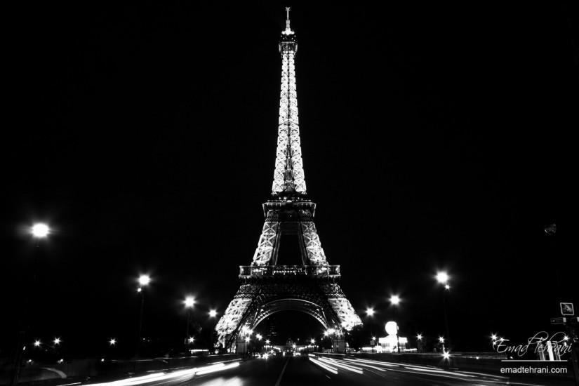 Night lights of Paris and the Eiffel Tower Desktop wallpapers 1152x864