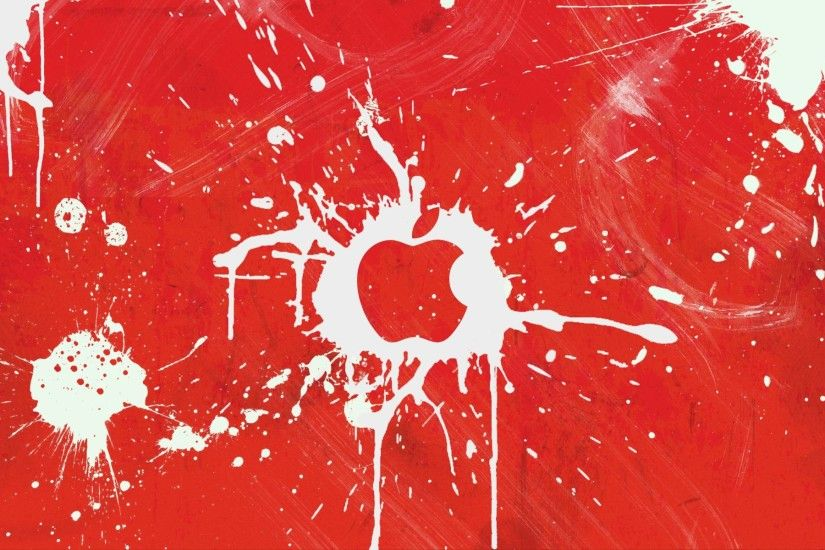 Images For > Red Apple Mac Background