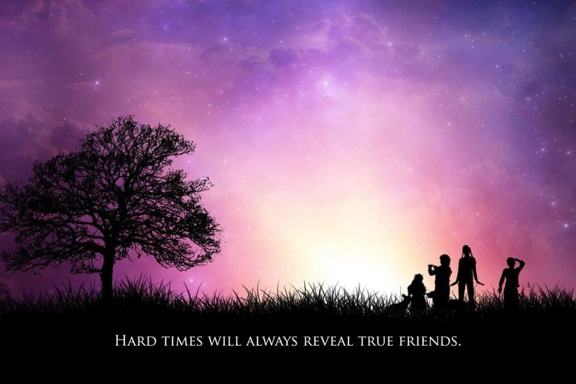 purple sky friendship background