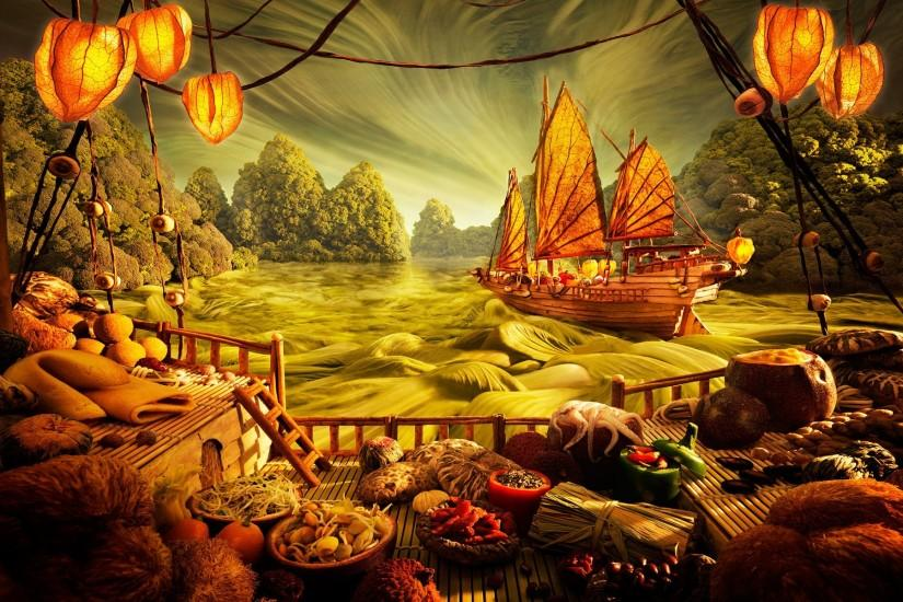 Wallpapers Fantasy Painting Image Paper Superb Hd 1920x1200 | #2206749  #fantasy painting
