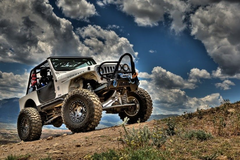 nature cars Jeep HDR photography skyscapes Jeep Wrangler / 1920x1200  Wallpaper