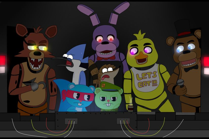 Regular tree friends (five nights at freddy's) by gloriapainthtf on  deviantART