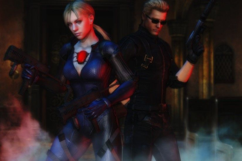 ... Resident evil wallpaper Jill and Wesker by ethaclane