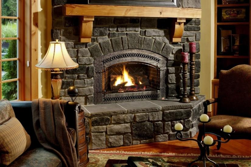 Preview wallpaper fireplace, chair, comfort, evening, cozy atmosphere  2560x1440
