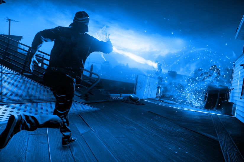 ... Infamous Second Son Blue Neon Wallpaper 6 by XtremisMaster