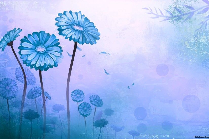 Light Blue Flower Wallpaper 1920×1200