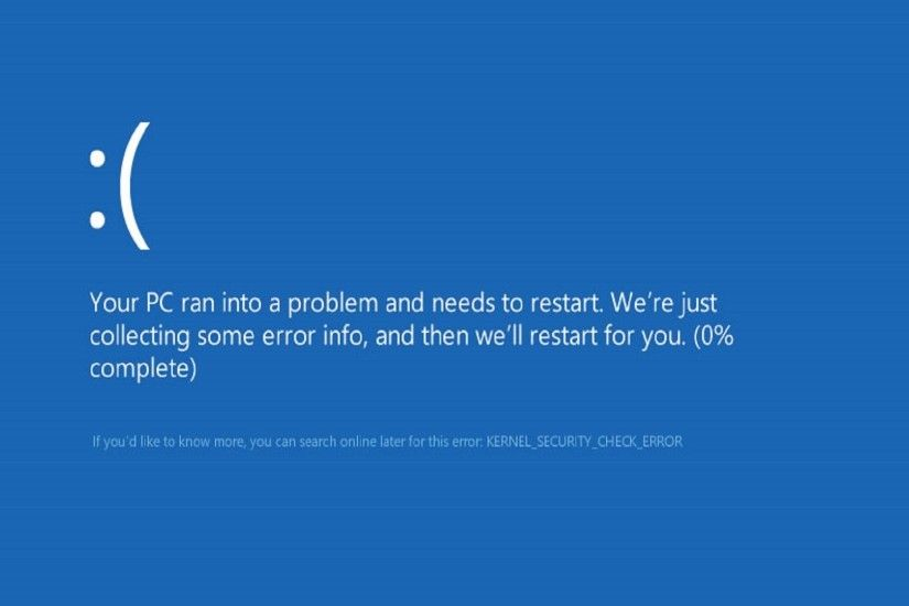 HOW TO FIX KERNEL SECURITY CHECK FAILURE IN WINDOWS 8 & 10 (BLUE SCREEN) -  YouTube