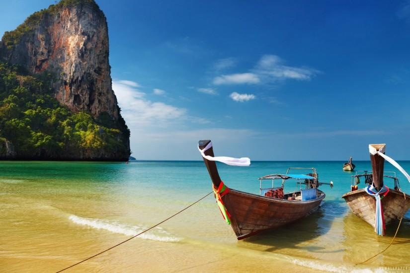 Relaxing Railay Beach Thailand Desktop Background. Download 1920x1200 ...