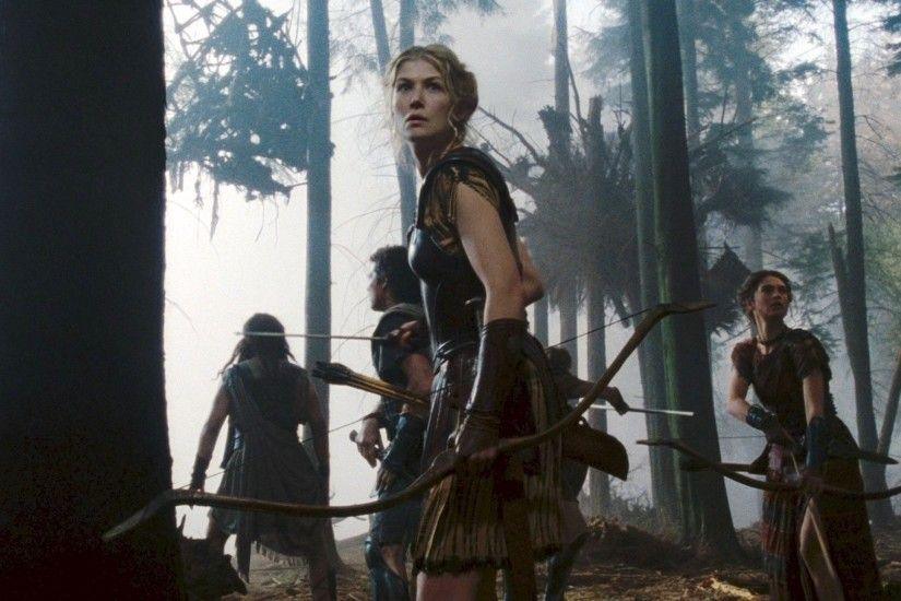 forest princess andromeda rosamund pike archery bow weapon wrath of the  titans recurve bow 1920 Art