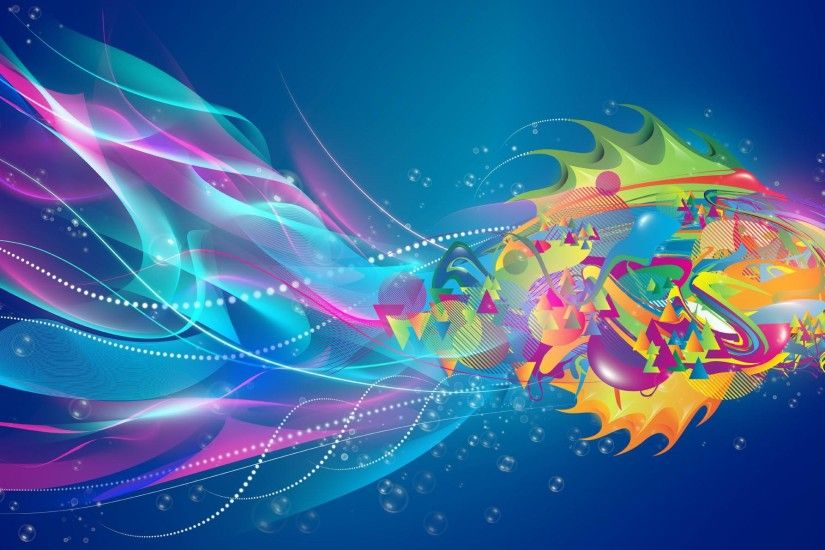 Abstract Fish Desktop Background. Download 2411x1191 ...