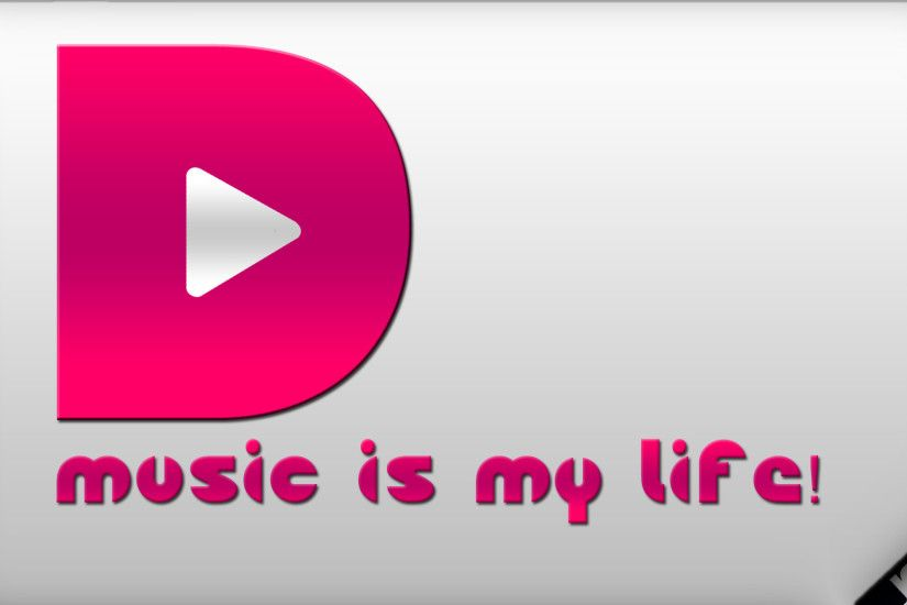 ... Music is my life Wallpaper by Qutiix