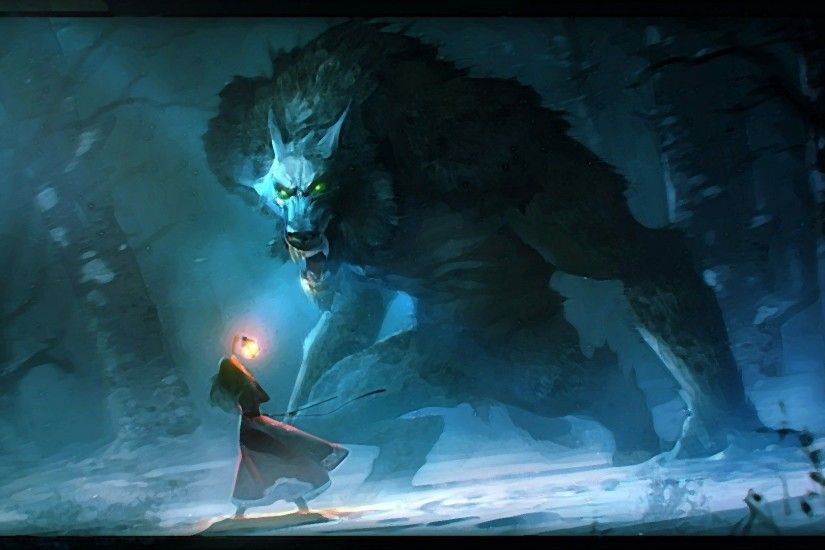 Fantasy with a wolf wallpapers and images - wallpapers, pictures .