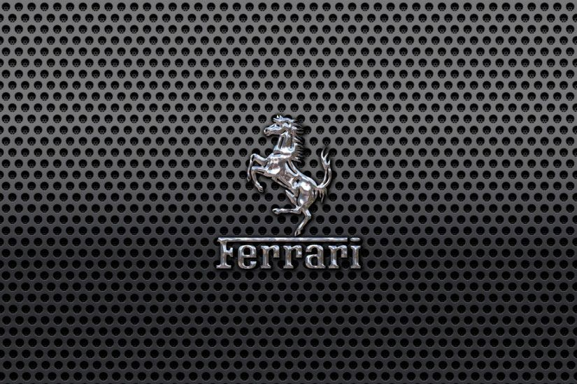 Ferrari Car Silver Logo Full HD Wallpapers Pictures