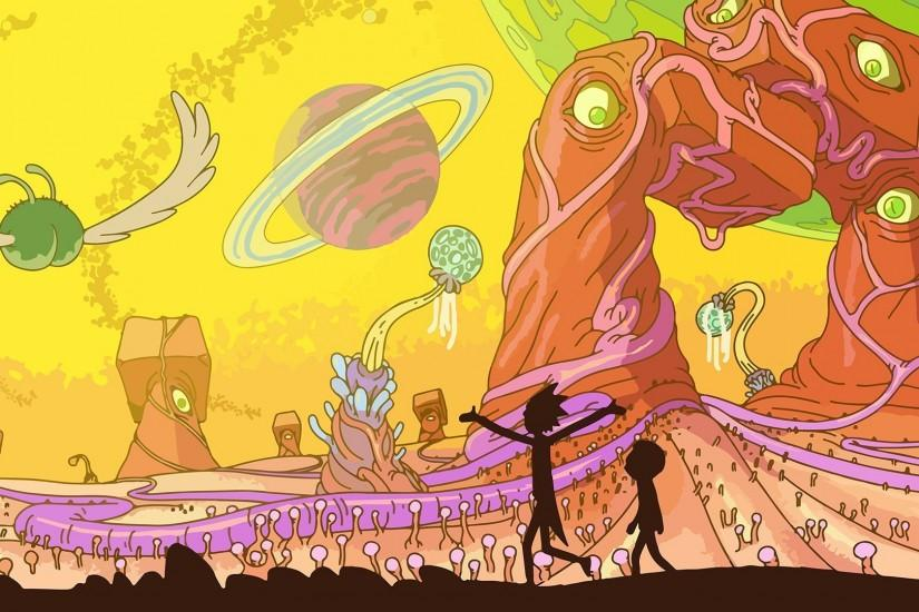 Rick And Morty, Adult Swim, Space, Animation, Planet Wallpaper HD