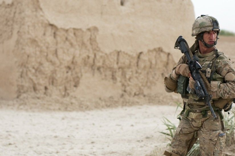 soldiers war guns army afghanistan us marines corps us army soldat m4 acog  multicam Wallpaper HD