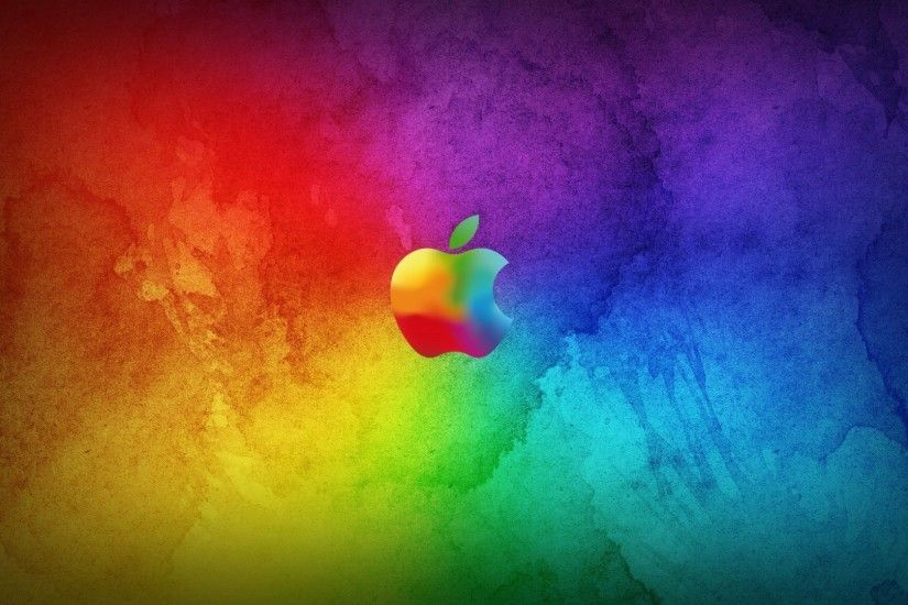 Free 3d amazing colorful apple logo hd desktop wallpapers download