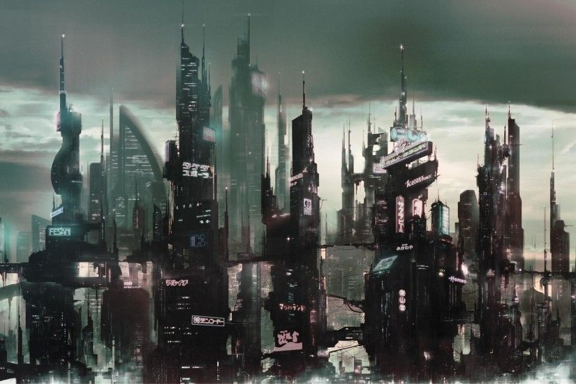 https://newevolutiondesigns.com/images/freebies/futuristic-city-wallpaper-3.jpg  | Digital art (mostly) | Pinterest | City wallpaper, Sci fi and Sci fi ...