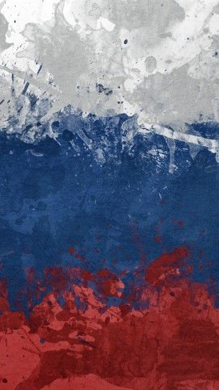 Preview wallpaper flag, russia, spots, paint, symbol, texture 1080x1920