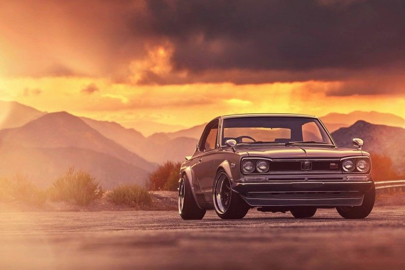 Nissan Skyline 2000 GTX classic car 4k iphone wallpaper