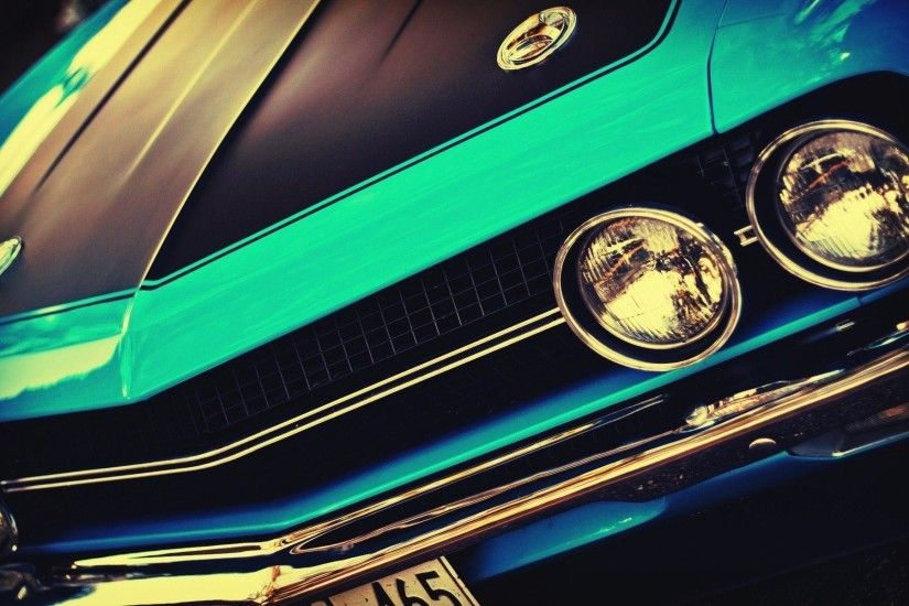 American cars Challenger USA blue cars cars wallpaper (#1841627 .