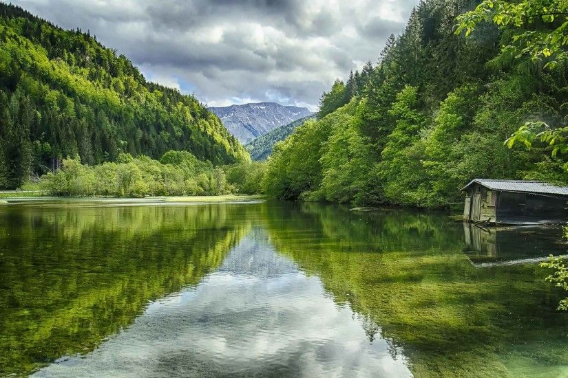 Lakes Lake Green Austria Background Wallpapers HD Nature