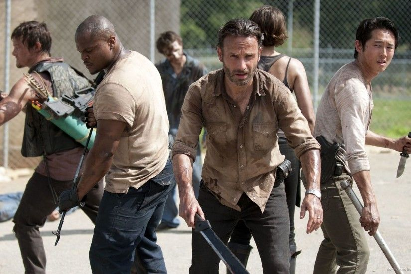 Rick Grimes With Machete for 1920x1080