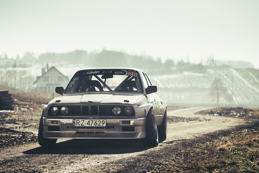 3840x2160 Wallpaper bmw, e30, drift, front view