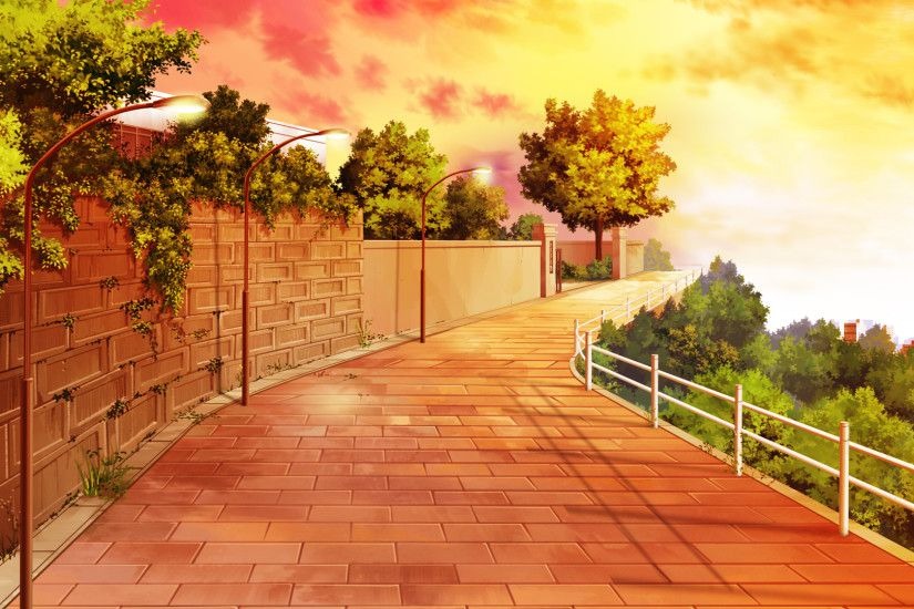 Anime City Scenery Wallpaper Widescreen 2 HD Wallpapers
