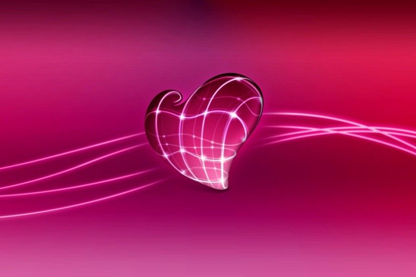 3D Heart HD Desktop Wallpaper