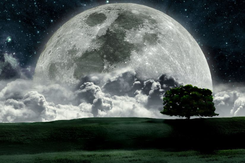 Moon Landscape Dream World Wallpaper ...