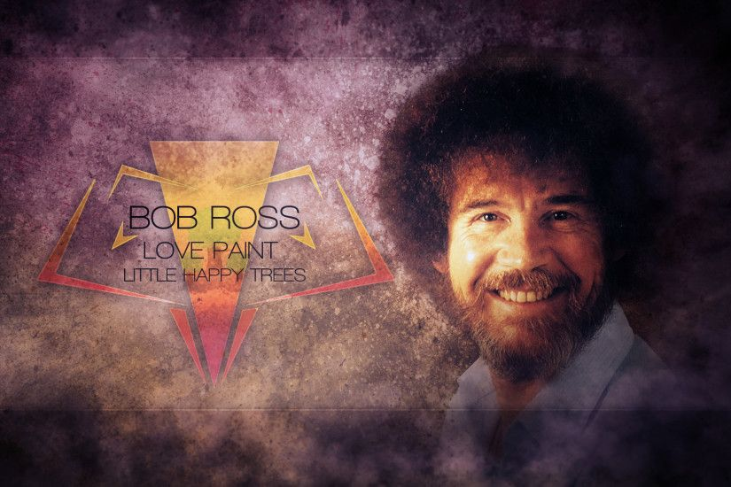 Bob Ross - Happy Little Grunges (Mackaged Collab) by SandwichDelta on .