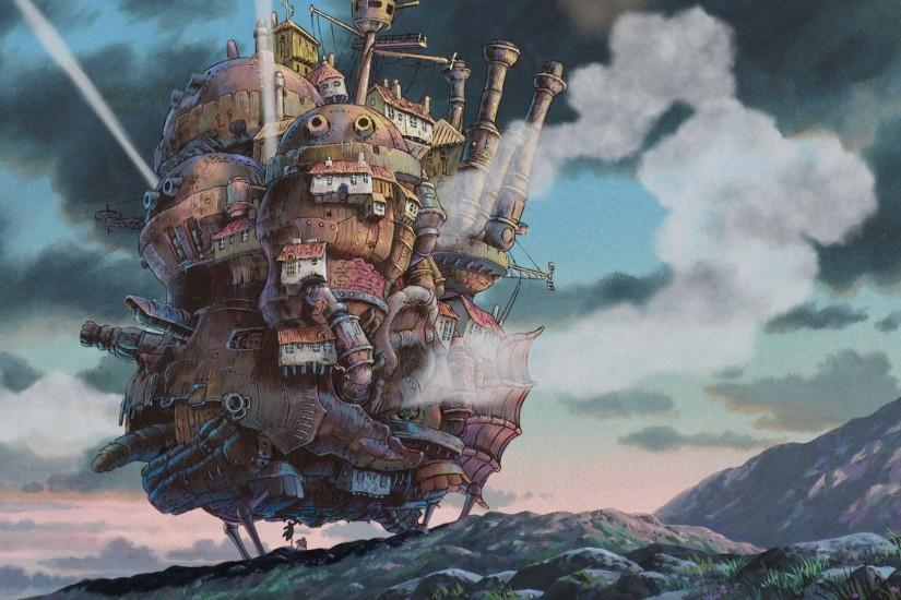 top howls moving castle wallpaper 2100x1136 for windows 10
