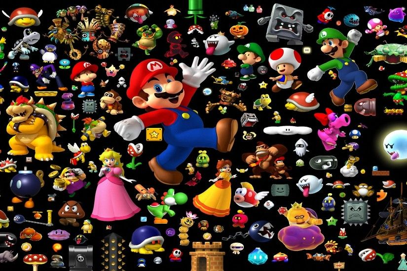 9 Super Mario All-Stars + Super Mario World HD Wallpapers | Backgrounds -  Wallpaper Abyss