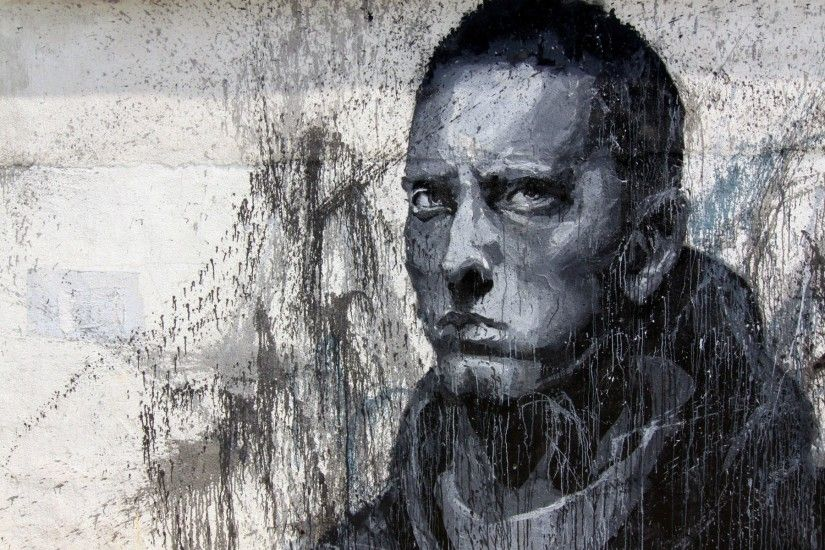 Music - Eminem Graffiti Trippy Psychedelic Urban Urban Art People Wallpaper