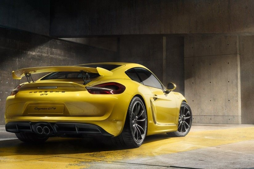 Vehicles - Porsche Cayman GT4 Yellow Car Sport Car Car Vehicle Porsche  Porsche Cayman Wallpaper