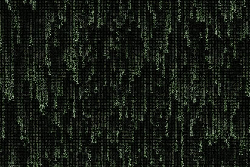 The Matrix Typography 2048x1152 Resolution