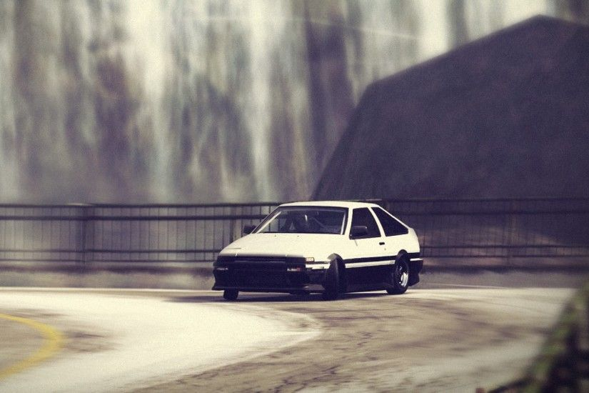 2560x1080 Wallpaper forza motorsport, car, road, drift, fence