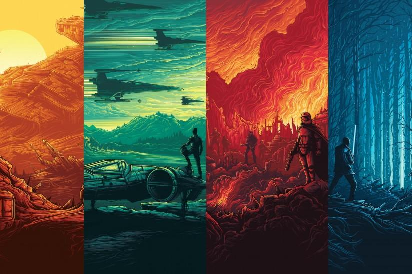 Inspired by KyloRenKillsHawkeye's awesome rendition, but the posters are in  order of release and the resolution is 4K. Dan Mumford is the posters'  original ...