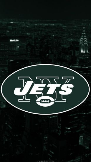 ... new york jets 2017 logo mobile wallpaper iphone 7, 6, 5, galaxy s7
