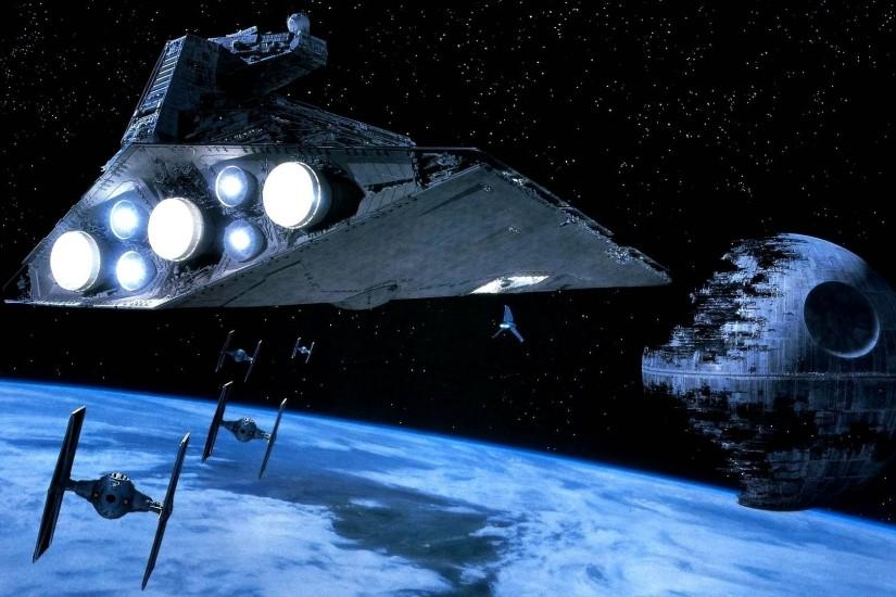 Star Wars Return Jedi Death Star and Spaceship Wallpapers HD