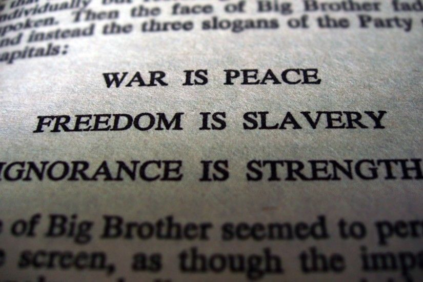 war freedom text quotes peace 1984 george orwell literature Wallpaper HD