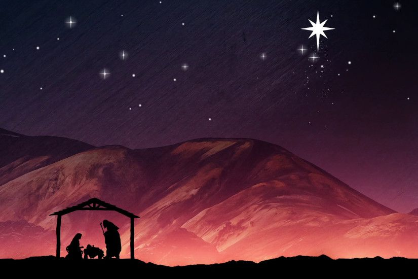 Christmas Nativity Background. Mary, Joseph And Baby Jesus In A Manger  Motion Background - VideoBlocks