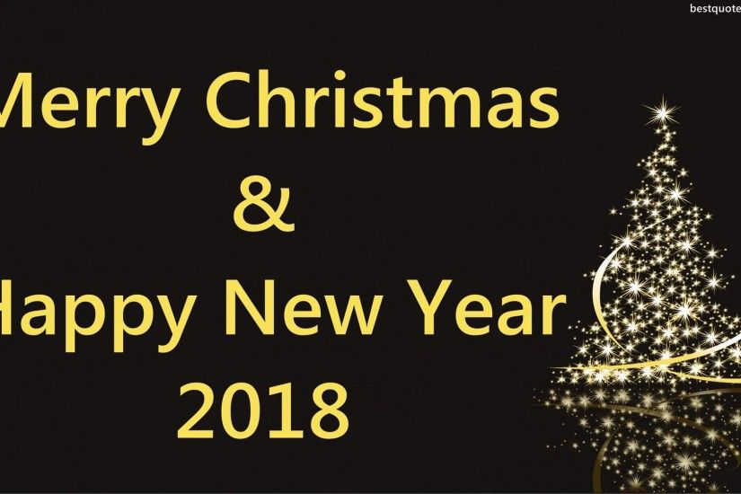 Merry Christmas And happy New Year 2018 HD Wallpapers