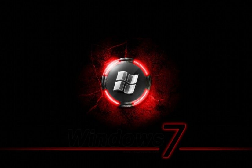 Windows 7 Black N Red Wallpaper