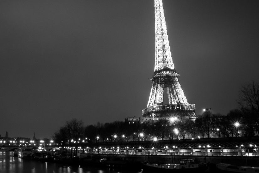 Paris Effel Tower - Tap to see more black & white city wallpaper! - @