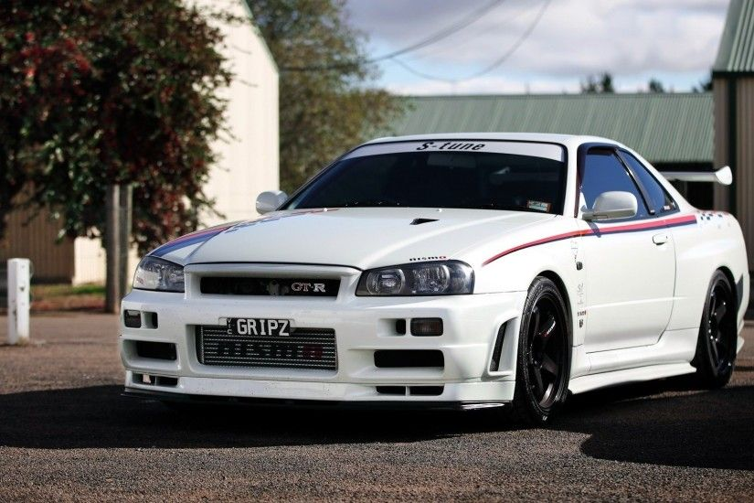 Nissan Skyline R34 supercar tuning white wallpaper | 1920x1080 | 43216 .